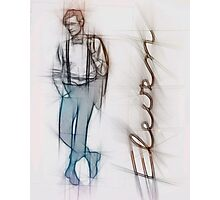 The Eleventh Doctor in Pencil Sketch Photographic Print