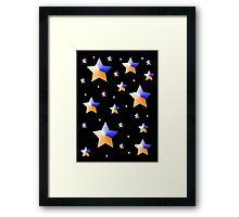 Orange and Blue Light Stars Framed Print
