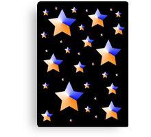 Orange and Blue Light Stars Canvas Print