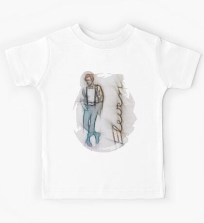 The Eleventh Doctor in Pencil Sketch Kids Tee