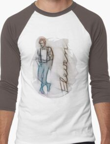 The Eleventh Doctor in Pencil Sketch Men's Baseball ¾ T-Shirt