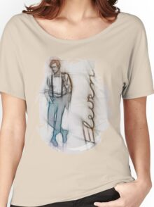 The Eleventh Doctor in Pencil Sketch Women's Relaxed Fit T-Shirt