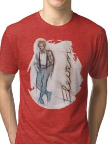 The Eleventh Doctor in Pencil Sketch Tri-blend T-Shirt