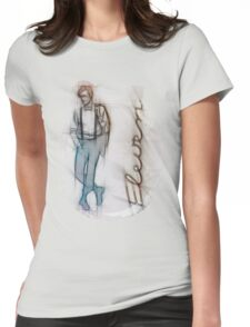 The Eleventh Doctor in Pencil Sketch Womens Fitted T-Shirt