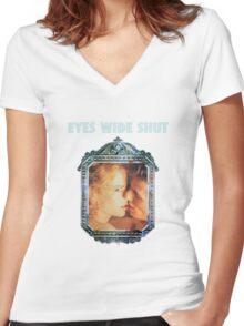 Eyes Wide Shut Women's Fitted V-Neck T-Shirt