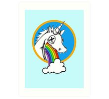 Drunk Unicorns Make Rainbows! Art Print