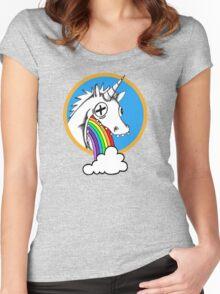 Drunk Unicorns Make Rainbows! Women's Fitted Scoop T-Shirt