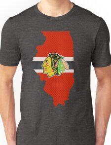 Chicago Blackhawks Jersey - Illinois Outline Unisex T-Shirt