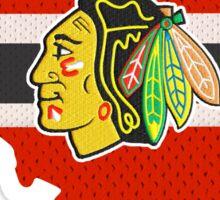 Chicago Blackhawks Jersey - Illinois Outline Sticker