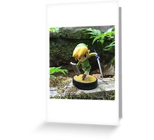 Link Explores the Forest Temple Greeting Card