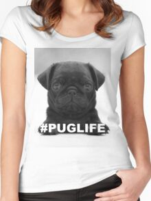 #PUGLIFE Women's Fitted Scoop T-Shirt