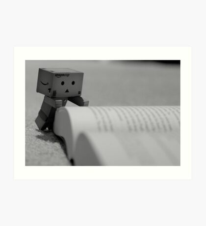 Danbo Learns to Read Art Print
