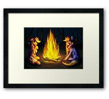 Rainbow Dash & Applejack Framed Print