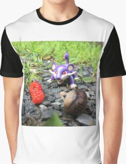 Rattata Chows Down! Graphic T-Shirt