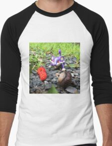 Rattata Chows Down! Men's Baseball ¾ T-Shirt