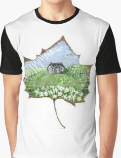 Alabama Tree Leaf Country Scene Graphic T-Shirt