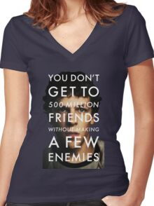 The Social Network Women's Fitted V-Neck T-Shirt