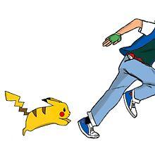 Ash and Pikachu by Sam Whitelaw