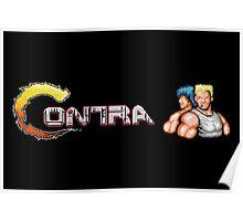 Contra Logo Poster