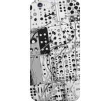 analog synthesizer illustration b&w - music equipment iPhone Case/Skin