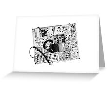 analog synthesizer illustration b&w - music equipment Greeting Card