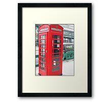 Telephone Booth Framed Print