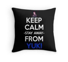 future diary mirai nikki yuno gasai keep calm and stay away from yuki anime manga shirt Throw Pillow
