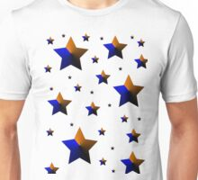 Orange and Blue Dark Stars Unisex T-Shirt