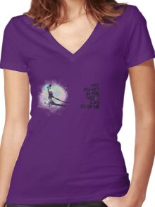 River Tam - No Power in the 'Verse (Colorful Cosmos) Women's Fitted V-Neck T-Shirt
