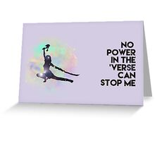River Tam - No Power in the 'Verse (Colorful Cosmos) Greeting Card