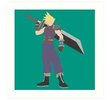 Smash Bros - Cloud Art Print