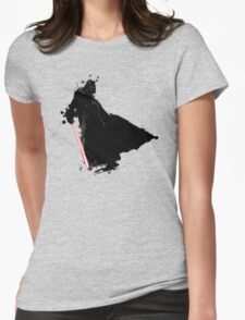 Cool Star Wars Darth Vader Ink Splatter Womens Fitted T-Shirt