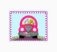 Happy Easter Spring Chick Driving Pink Car T-Shirt