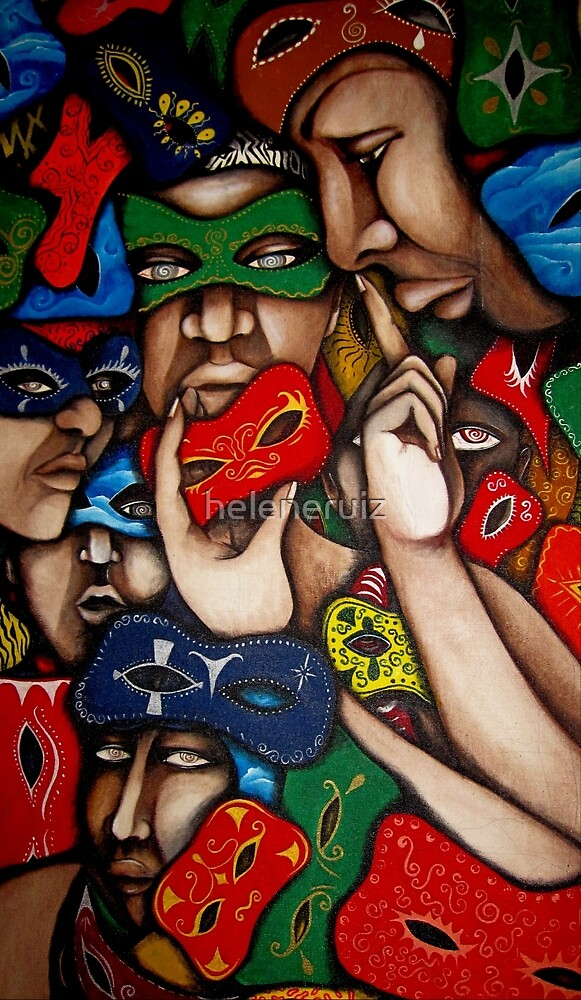 AHAHAHAHAHAAAAA...ALL THESE MASKS..... by helene ruiz