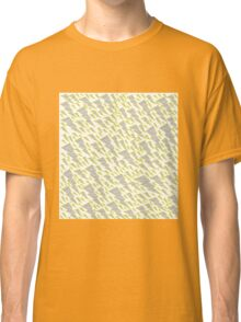 grey and yellow lightning bolt  Classic T-Shirt