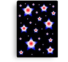 Red, Blue, and White Stars Canvas Print