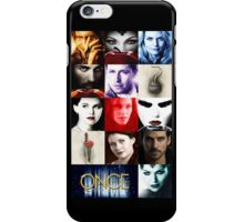 Once Upon a Time, emma swan, prince charming, snow white, hook, killian, rumpelstilskin, belle, red riding hood, red, season posters,  OUAT iphone case iPhone Case/Skin