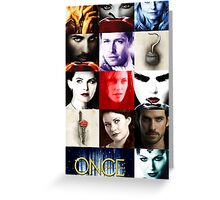 Once Upon a Time, emma swan, prince charming, snow white, hook, killian, rumpelstilskin, belle, red riding hood, red, season posters,  OUAT iphone case Greeting Card