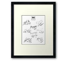 Girls' Generation (SNSD) Signature/Autograph Framed Print