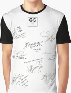 Girls' Generation (SNSD) Signature/Autograph Graphic T-Shirt