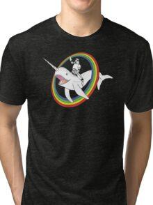 Narwhal Rainbow Tri-blend T-Shirt