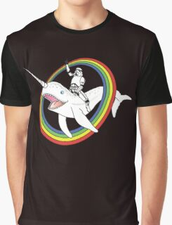 Narwhal Rainbow Graphic T-Shirt