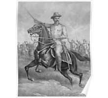 Colonel Theodore Roosevelt On Horseback Poster