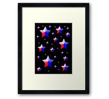 Patriotic Stars Framed Print