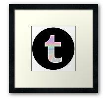 holographic tumblr logo Framed Print