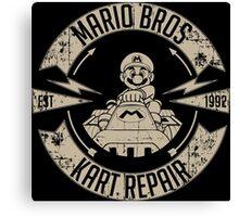Mario Bros Kart Repairs Canvas Print