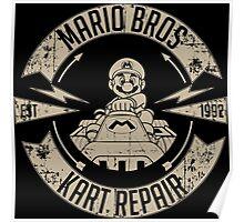 Mario Bros Kart Repairs Poster