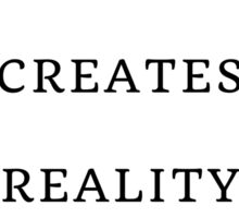Perception Creates Reality Sticker