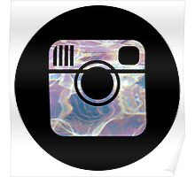 holographic instagram logo Poster