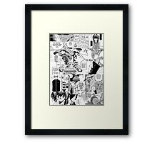 My Manga-reading Journey Framed Print
